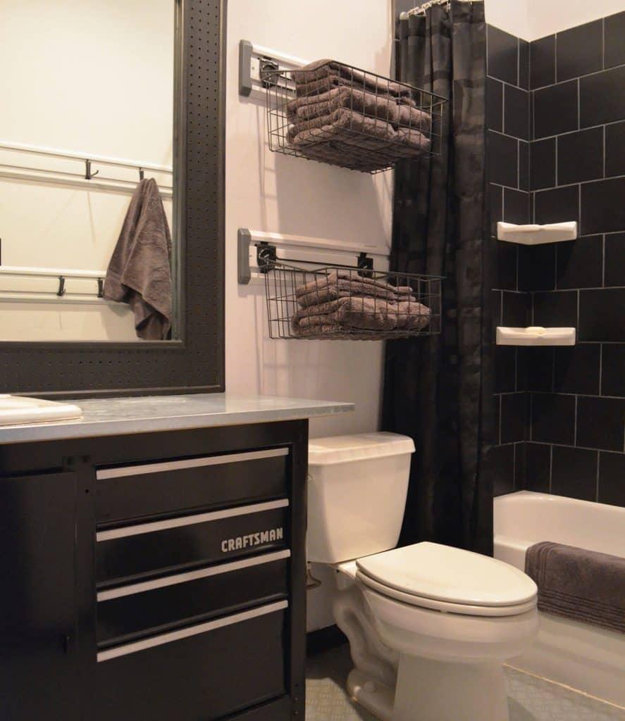 Tiered Wire Rack Bathroom Shelf Ideas