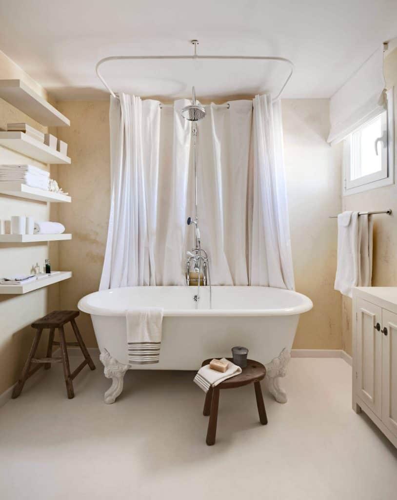 Shelf for Towels Beside Tub