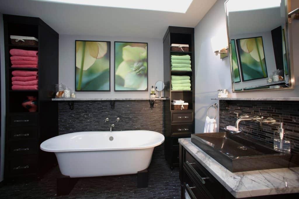 Spa Style Locker Bathroom Shelf Ideas