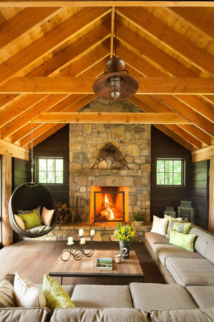 Warm Cozy Fire and Comfortable Seating