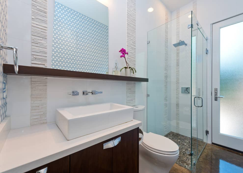 Single Extended Bathroom Shelf Ideas