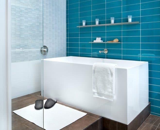 Minimal Tub Shelves Idea