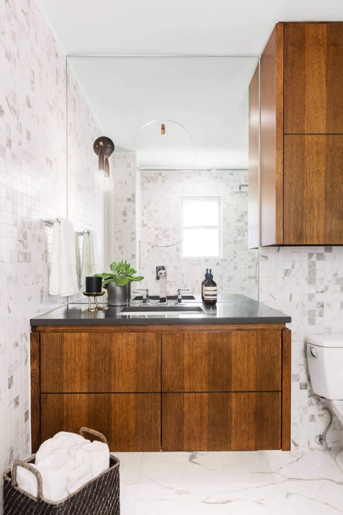 Towel Storage Above Sink Areas