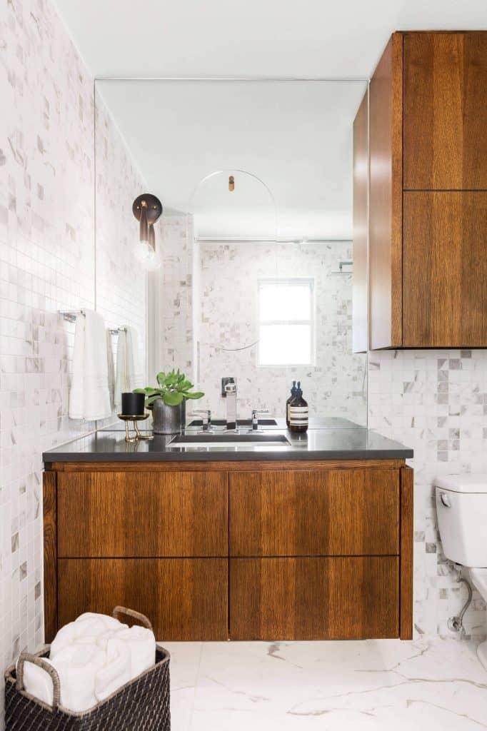 Towel Storage Above Sink Areas