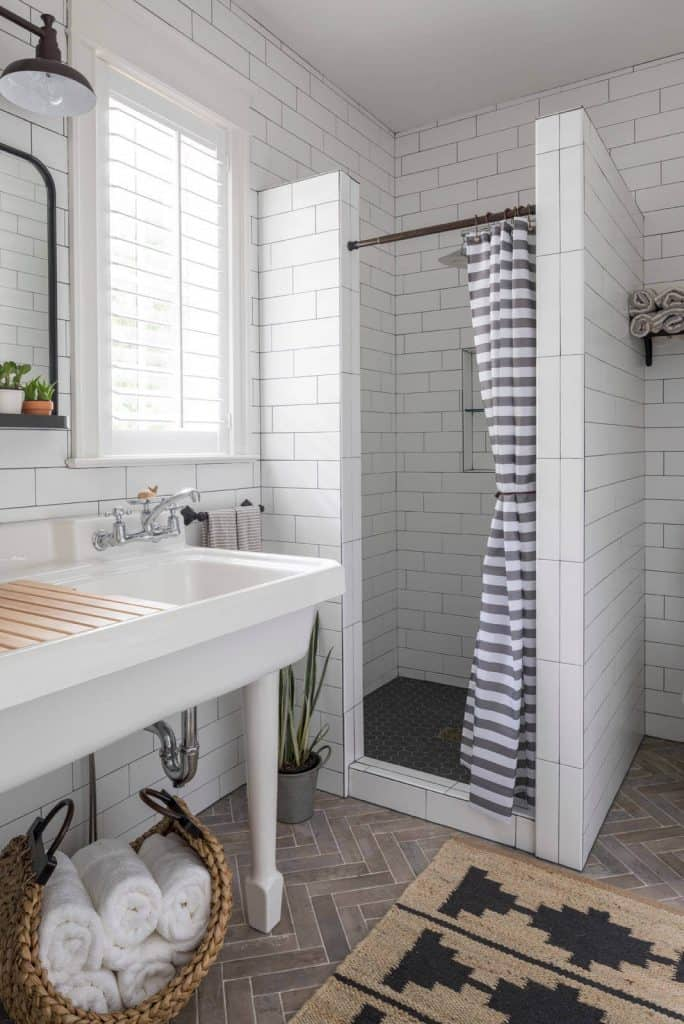 towel storage ideas with A Basket Full of Towels Nearby