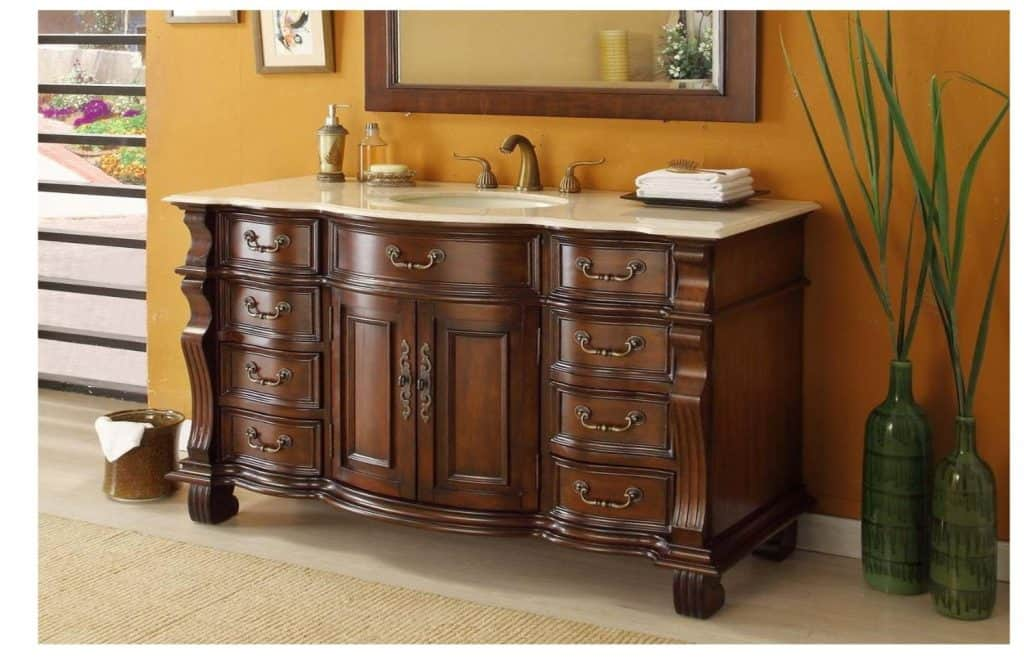 60 Large Single Sink Bathroom vanity cabinet - Model CF-4437M-60 Hopkinton - 200+ Bathroom Ideas (Remodel & Decor Pictures)