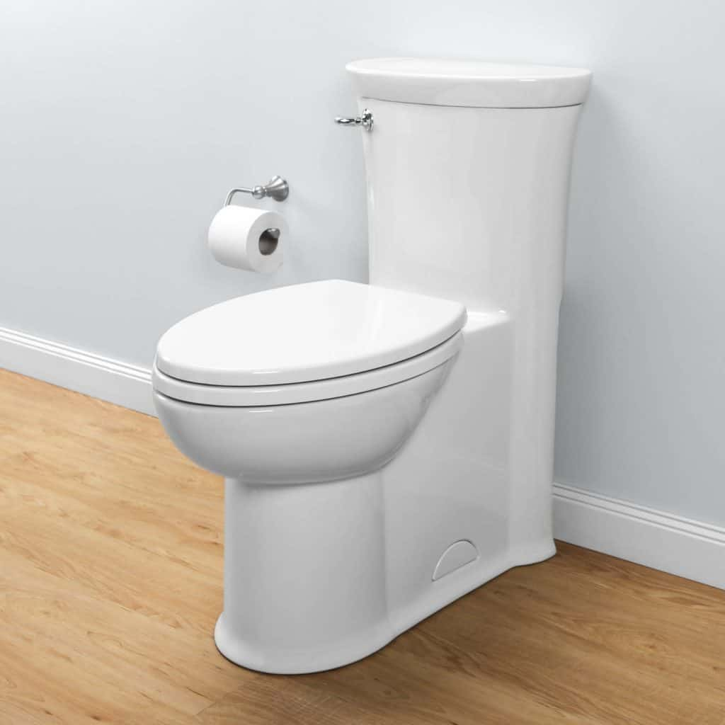 American Standard 2891.128.222 Boulevard RH Elongated One Piece Flowise Toilet, Linen
