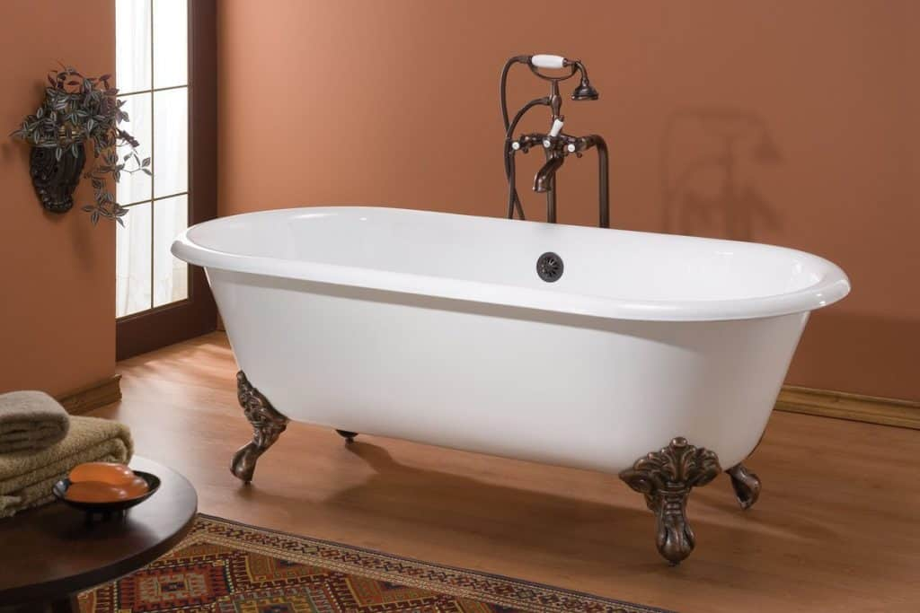 cheviot regal double ended cast iron white clawfoot tub 2111ww feet