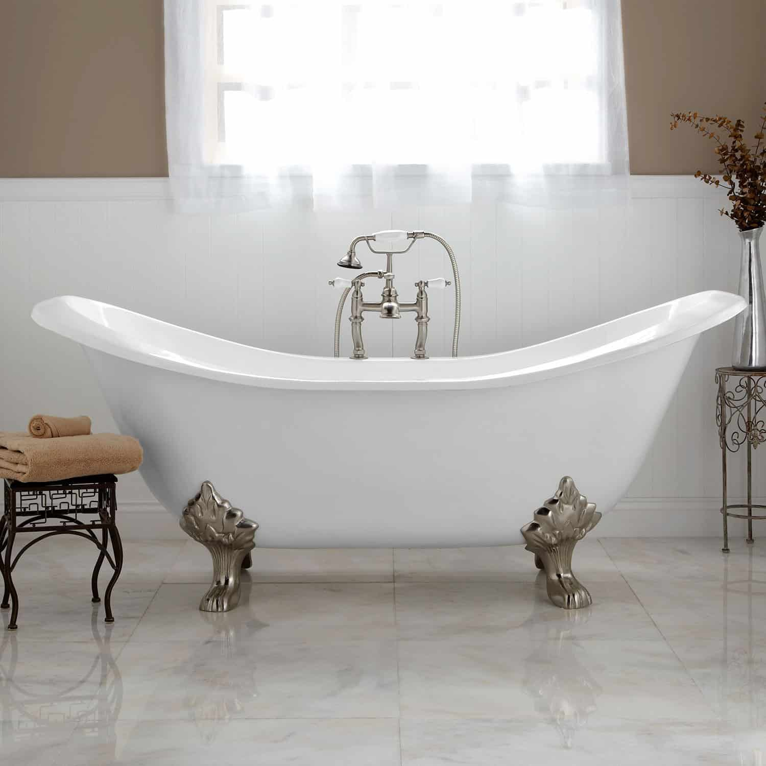 interior with copper tubs bathtub mcquire on tub bright claw clawfoot feet slipper hammered
