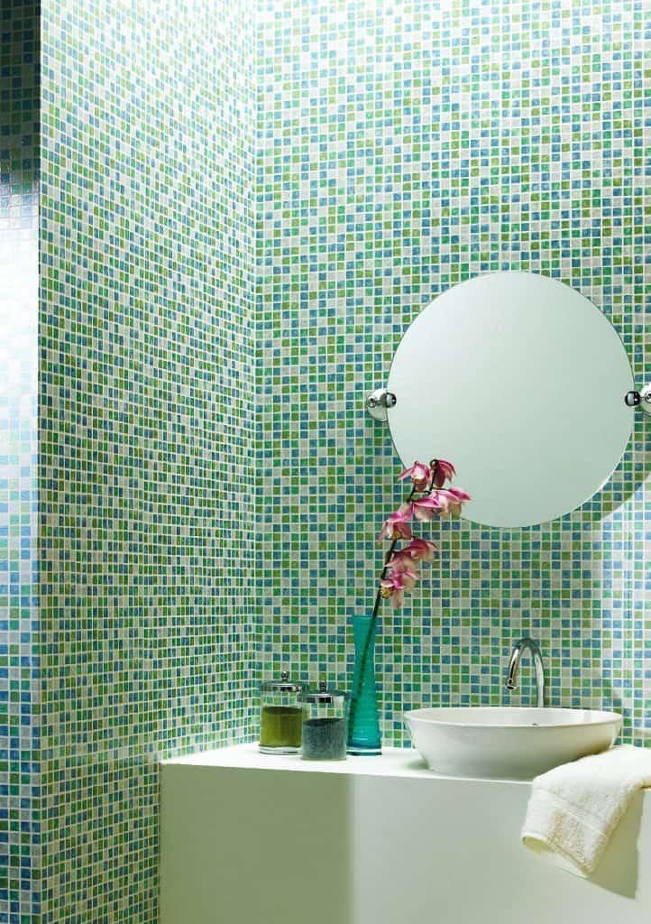 Corfu Aqua Tiles Wallpaper
