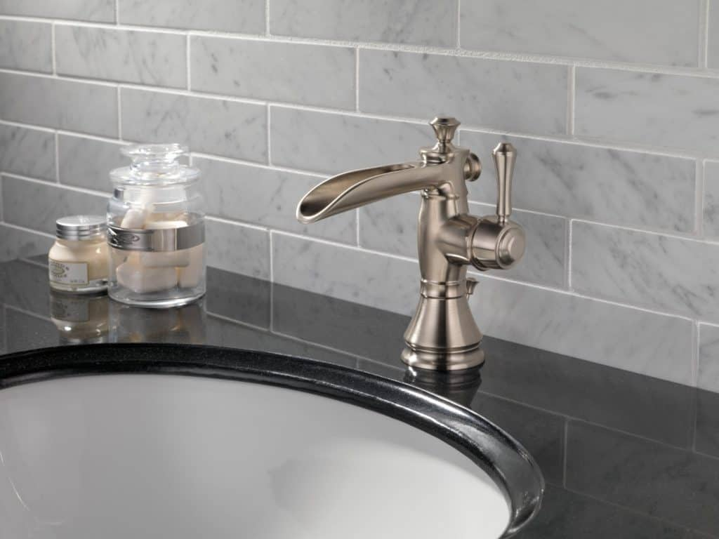 Delta Faucet 598LF-SSMPU Cassidy Single Hole-Single Handle Channel Spout
