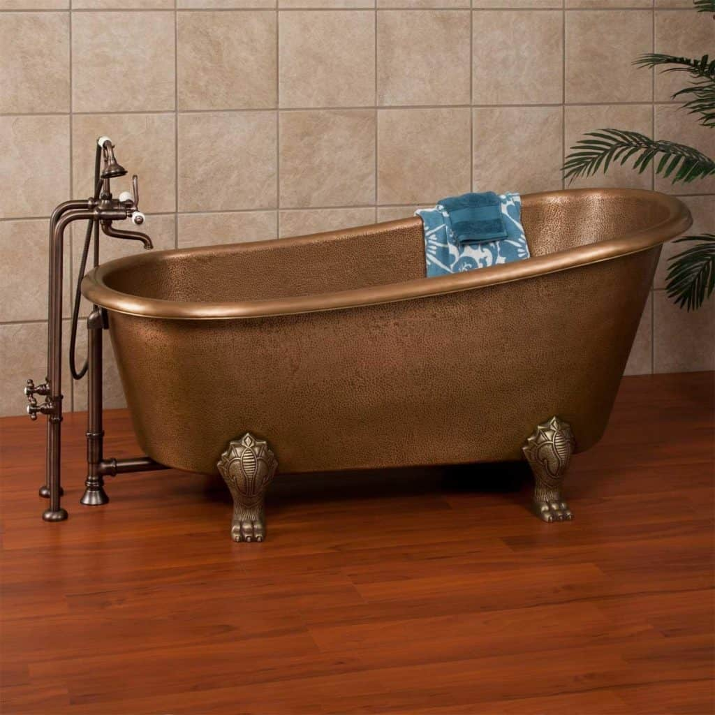 The ultimate guide to clawfoot bathtubs 50 ideas for Copper claw foot tub