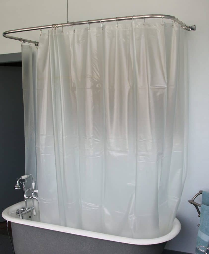 everything you need to know about clawfoot bathtubs blue brown tan fabric shower curtain bathroom bath tub ebay