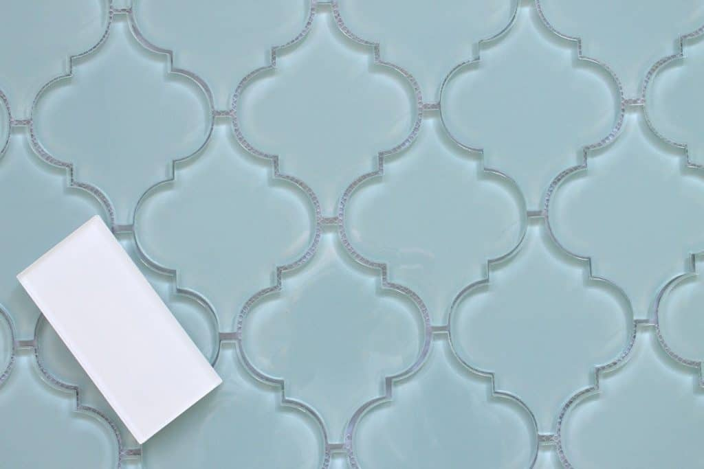 Jasper Arabesque Glass Mosaic Tiles