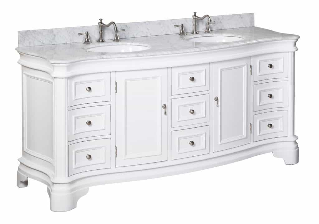 Katherine Bathroom Vanity with Marble Countertop