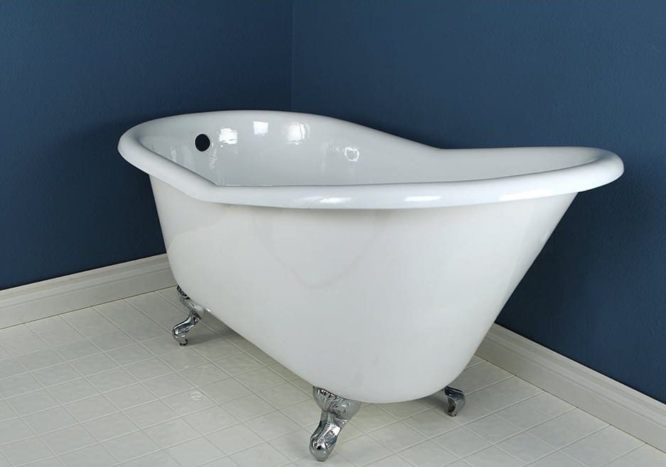 double slipper clawfoot tub acrylic. Kingston Brass Aqua Eden VCTND6030NT1 Cast Iron Slipper Clawfoot Bathtub The Ultimate Guide to Bathtubs  50 IDEAS
