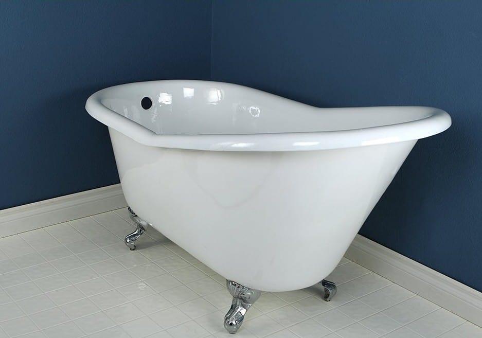 Kingston Brass Aqua Eden VCTND6030NT1 Cast Iron Slipper Clawfoot Bathtub