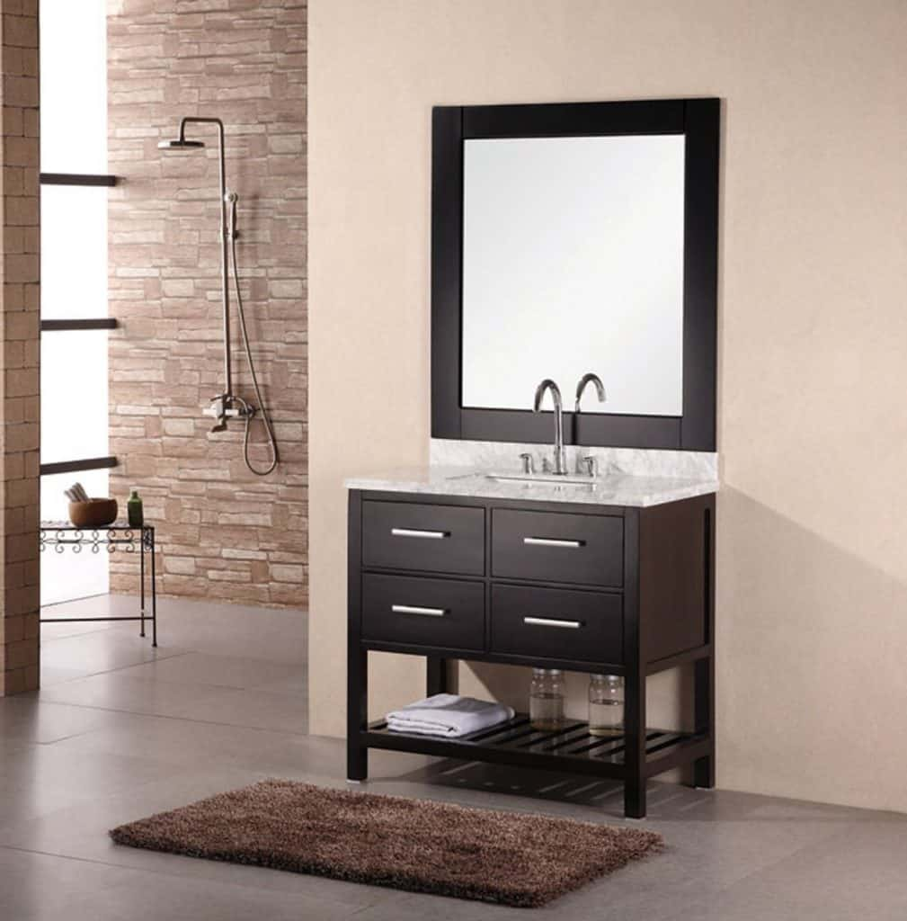 Bathroom vanity designs - London 36 Single Bathroom Vanity