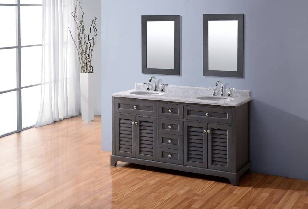 Madison 60 French Gray Bathroom Vanity 200  Ideas Remodel Decor Pictures