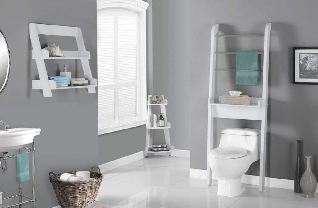 White On White Bathroom Ideas Part - 40: Monarch Specialties White Bathroom Space Saver