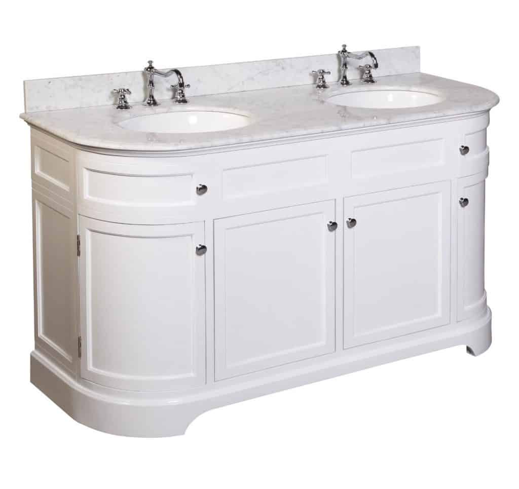 Montage Double Sink Bathroom Vanity with Marble Countertop, Cabinet with Soft Close Function and Undermount Ceramic Sink