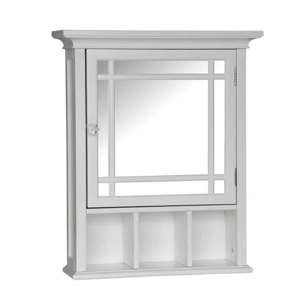 Neal Surface Mount Beveled Edge Medicine Cabinet (White)