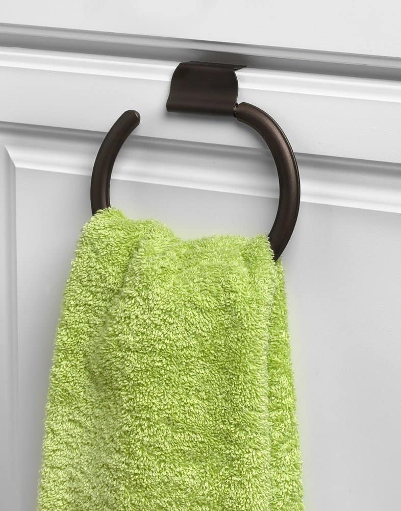Spectrum Diversified 58924 Ashley Over-the-Cabinet Towel Ring, Bronze