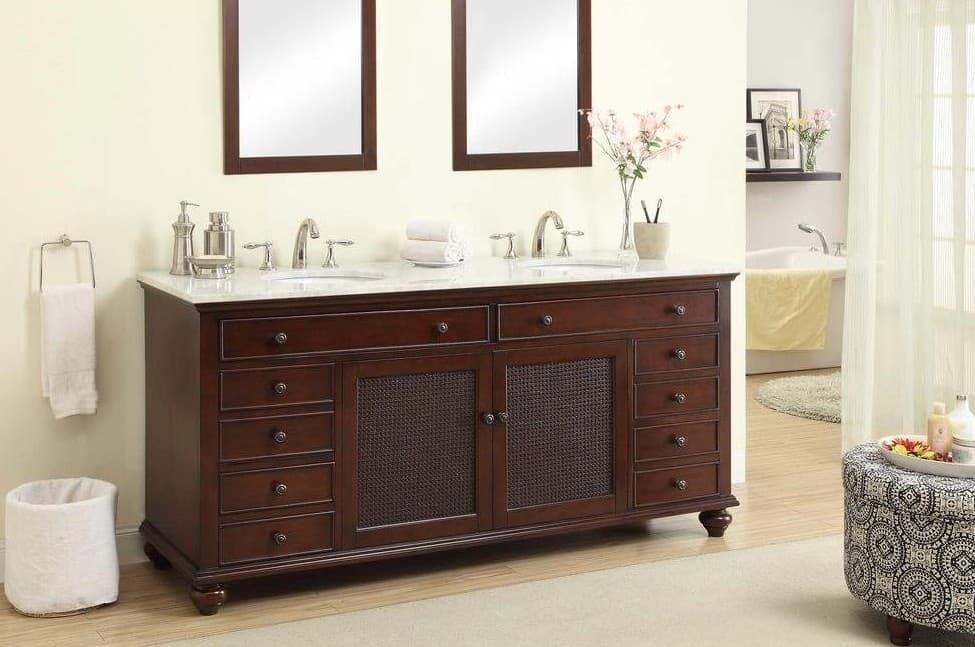 Attractive Pegasus F10AE0026A Bimini 72 Double Bathroom Vanity Set