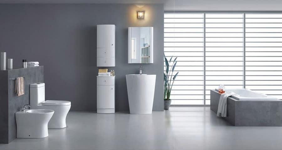 Pisa - Modern Bathroom Pedestal Sink Vanity