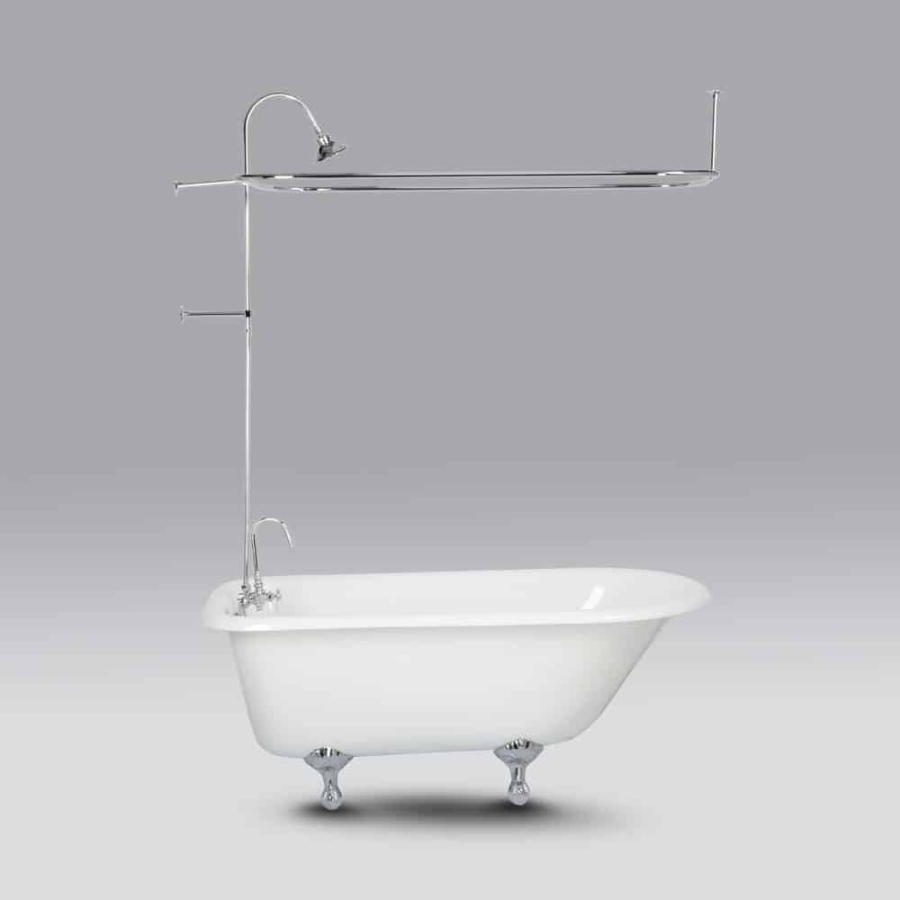Randolph Morris Claw Foot Tub Shower Enclosure with Metal Showerhead RM403SEC Chrome