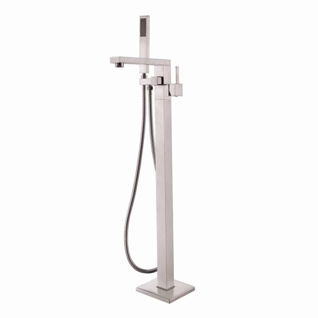 Everything You Need To Know About Clawfoot BathTubs ULTIMATE GUIDE - Wall mount clawfoot tub faucet handheld shower