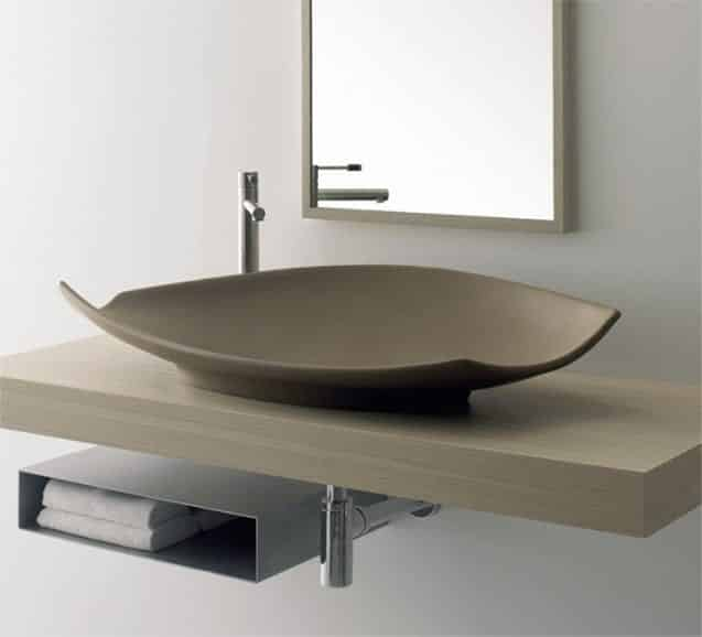 Scarabeo 8053E Kong Above the Counter Ceramic Washbasin without Overflow