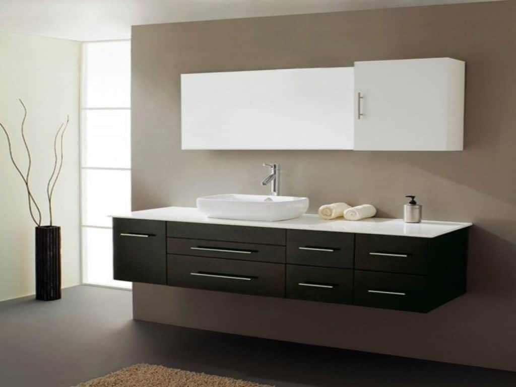 Virtu USA Justine 59 Single Sink Bathroom Vanity In Espresso   Vanity Top  Included Part 84
