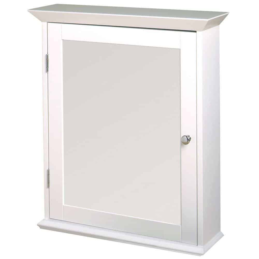 Wood Swing Door Surface-Mount Medicine Cabinet in White