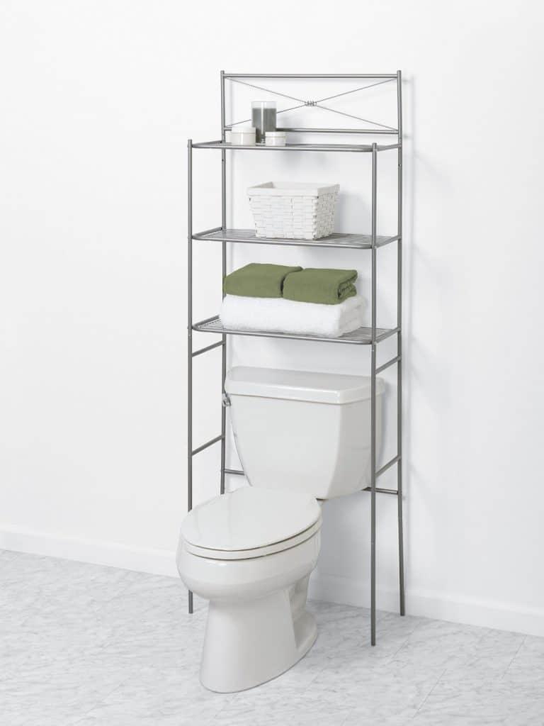 Zenna Home 2523NN, Cross Style Bathroom Spacesaver, Satin Nickel