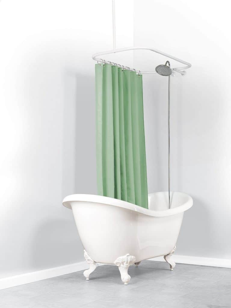 Zenna Home 34941WW  NeverRust Aluminum Hoop Shower Curtain Rod for Claw  Foot Tubs  WhiteThe Ultimate Guide to Clawfoot Bathtubs  50  IDEAS . Add Shower To Clawfoot Tub. Home Design Ideas