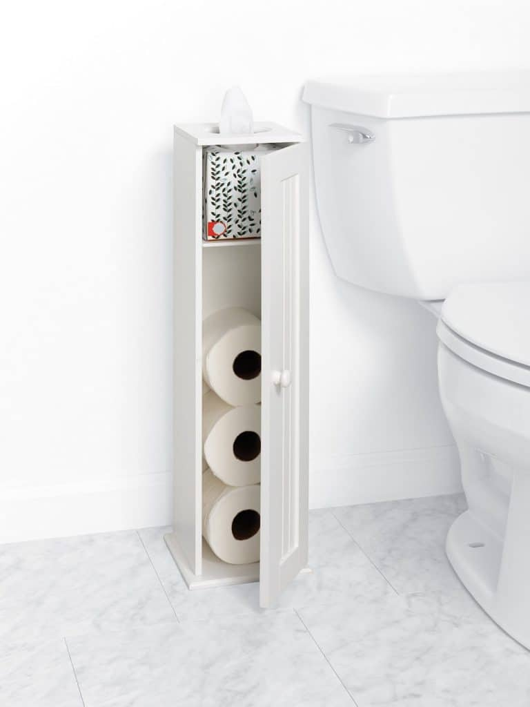 Zenna Home 9153WW, Cottage Collection Bathroom Tissue Stand