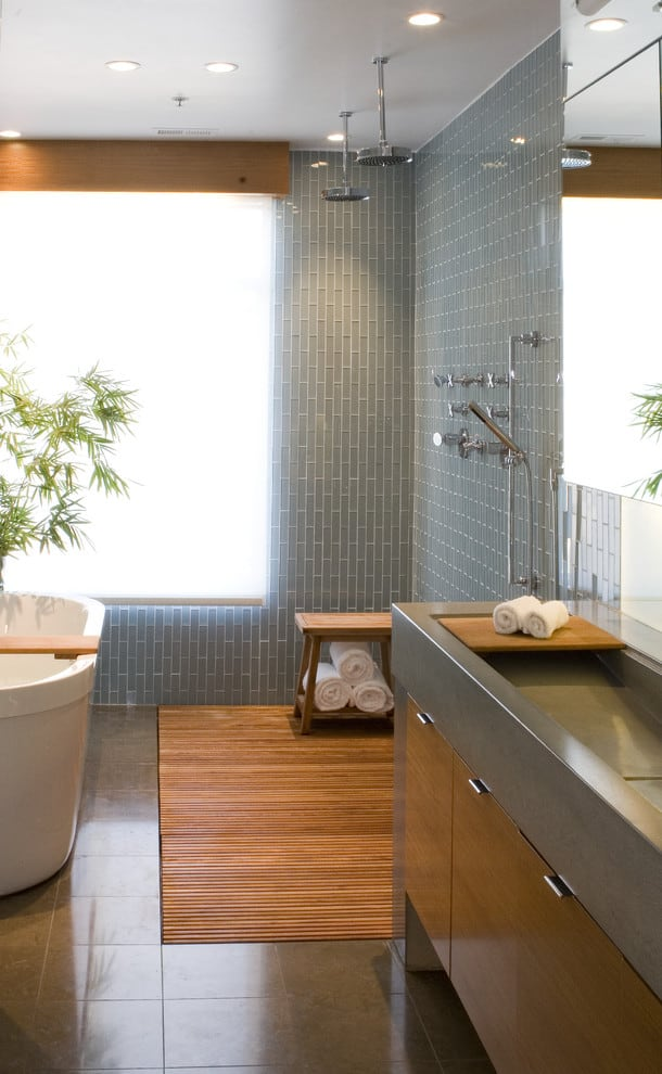 bathroom ideas green and white