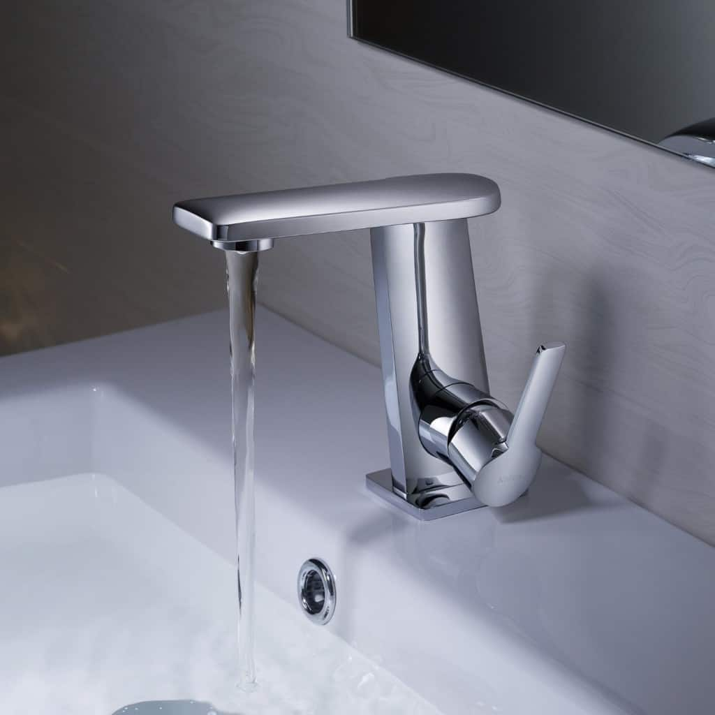 Kraus KEF-15401CH Novus Single Lever Basin Bathroom Faucet Chrome