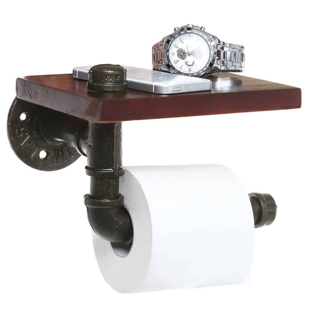 toilet paper holder shelf