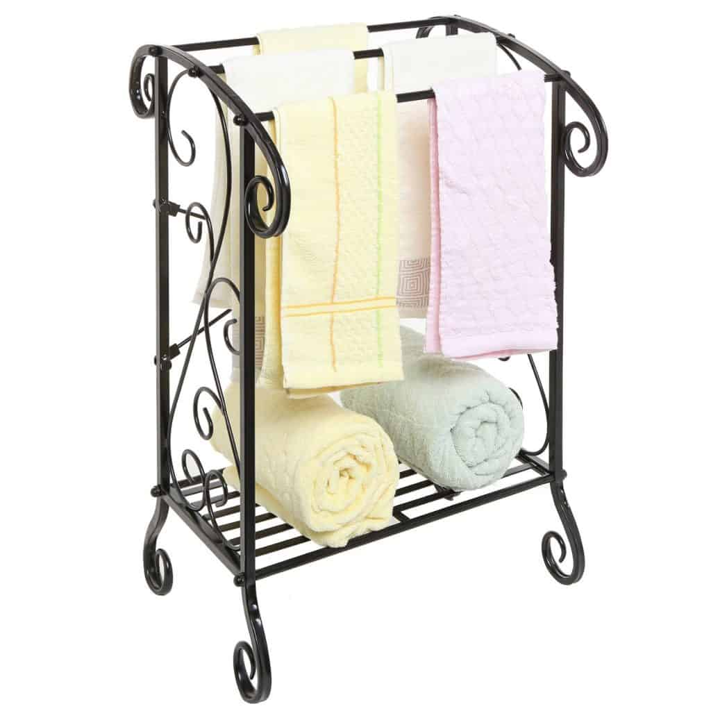Freestanding 3 Towel Bar Rack. Decorative ...