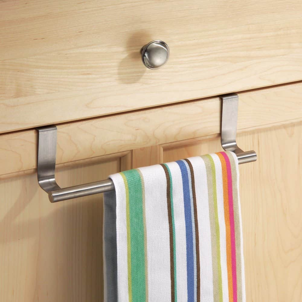 Over The Cabinet Basket Over Cabinet Door Towel Bar With Basket Monsterlune