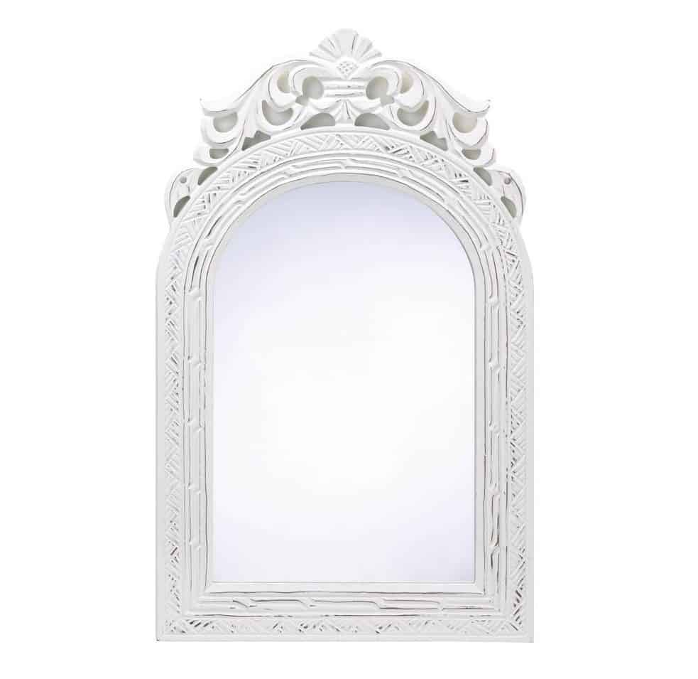 20 Shabby Chic Wood Arched-Top Wall Mirror Ideas