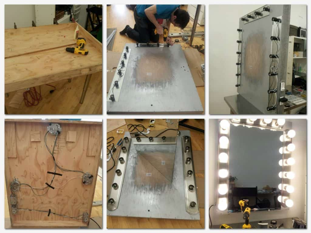diy vanity light mirror. Building your Own Vanity from Scratch Ideas for Making Mirror with Lights  DIY or BUY