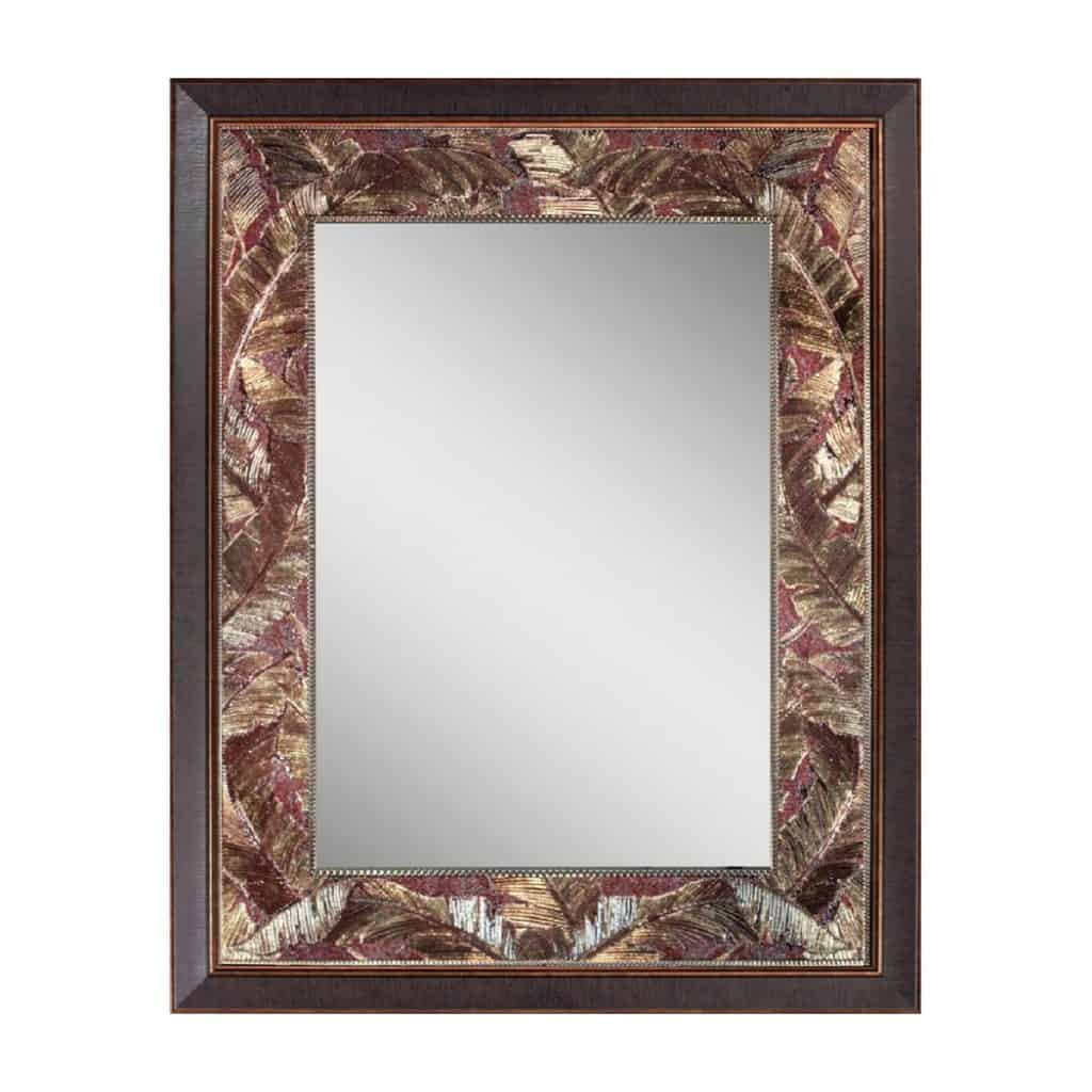 Head West Tropical Leaf Mirror Idea