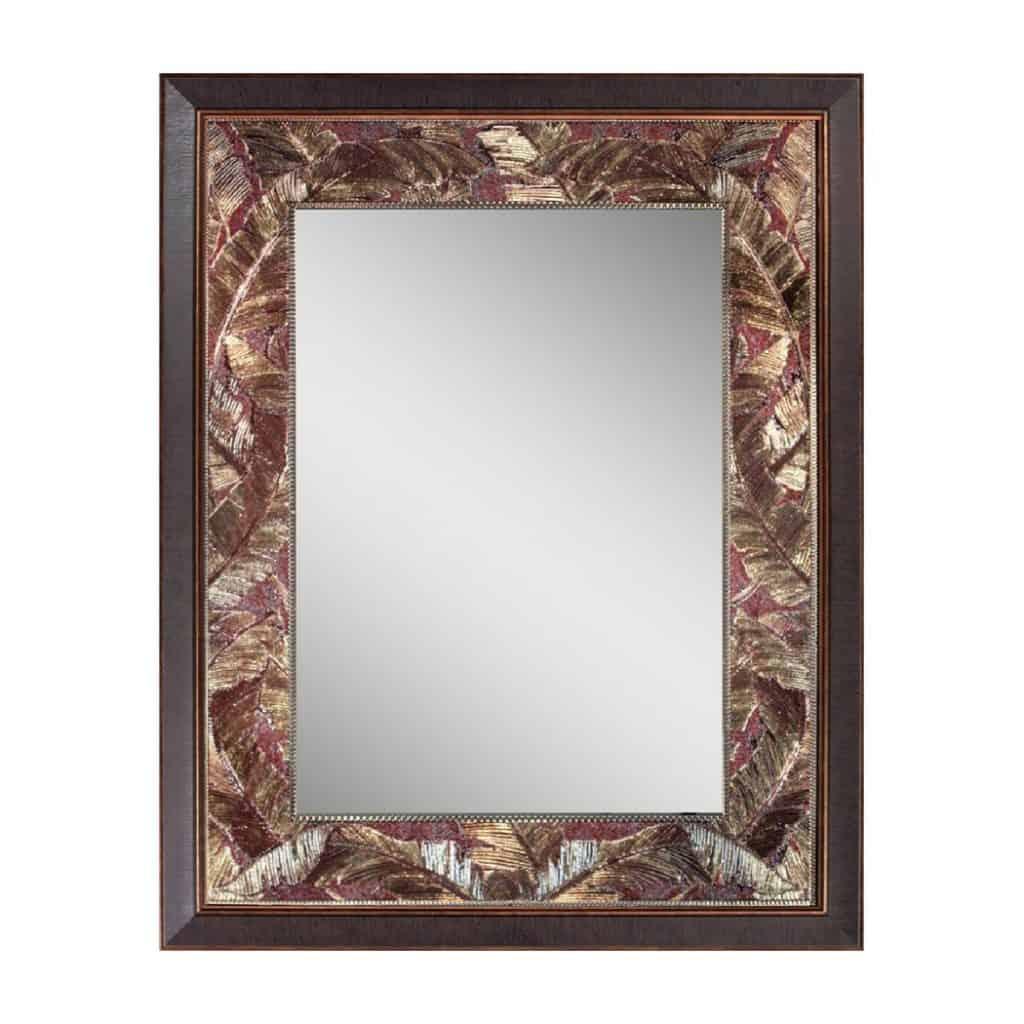 Head West Tropical Leaf Mirror Idea