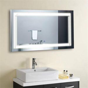 Horizontal LED Lighted Vanity Bathroom Silvered Mirror