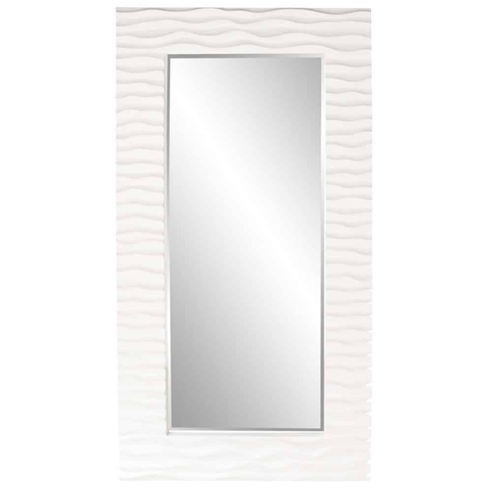 Howard Elliott 56001 Broadway Rectangular Bathroom Mirror, 30-Inch by 58-Inch, Glossy White