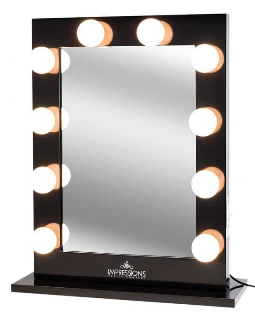 Impressions Vanity Hollywood Studio Lighted Make Up Vanity Back Stage Mirror