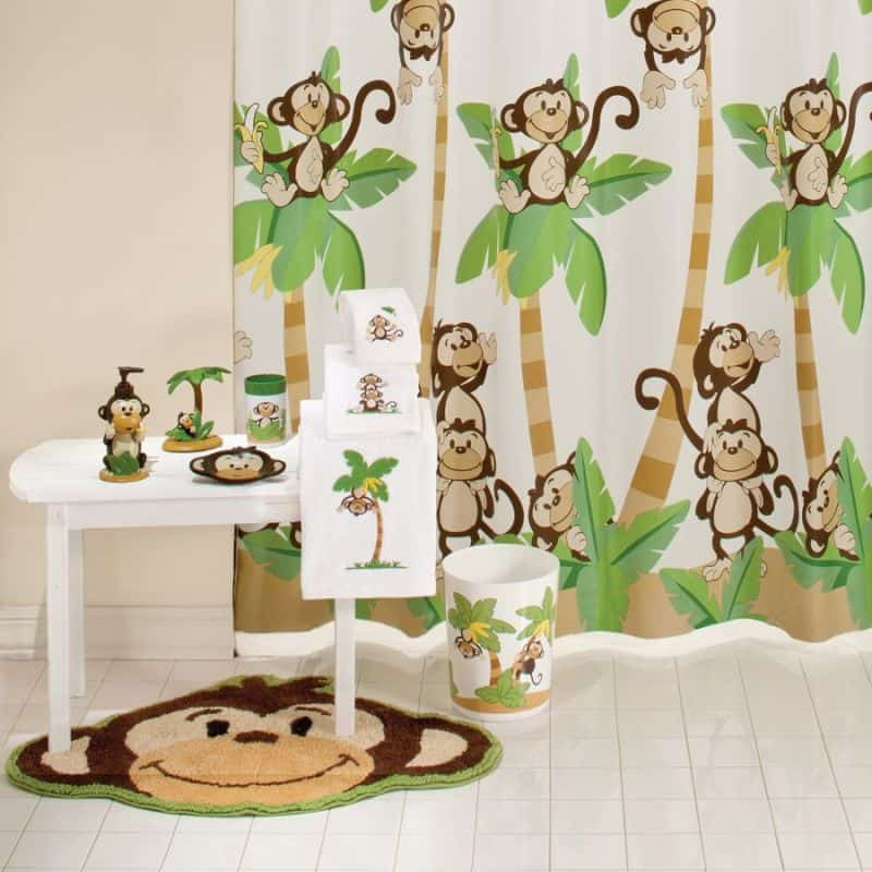 Nature themed bathroom accessories for Animal themed bathroom decor